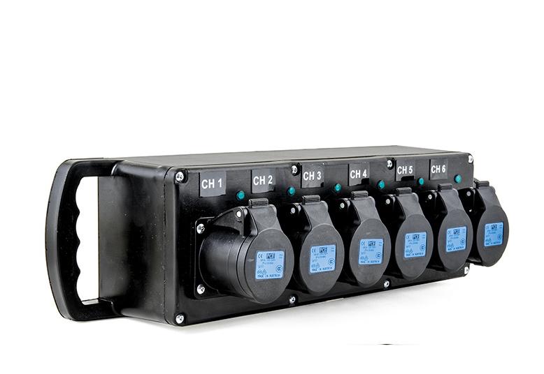 Pce Imst Distribution Box 32a 230v 6 X Outlets Ip44 Input