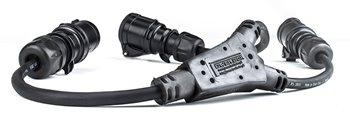PCE 16Amp 2P+E CEE Midnight Negro Cable Mount Hembra Enchufe IP44 213-6X