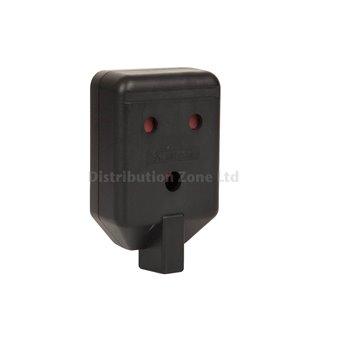 13A 13 AMP PLUG HEAVY DUTY BLACK RUBBER RUBBERISED GARDEN BS1363//A